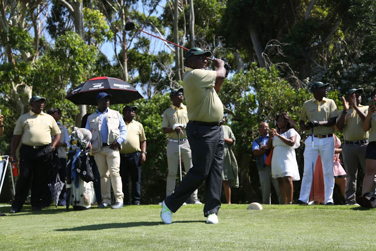 Cyril Ramaphosa visited the East London Golf Course for a mini tee-off on Friday.