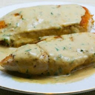 Sauteed Chicken Breasts with Tarragon-Mustard Pan Sauce.