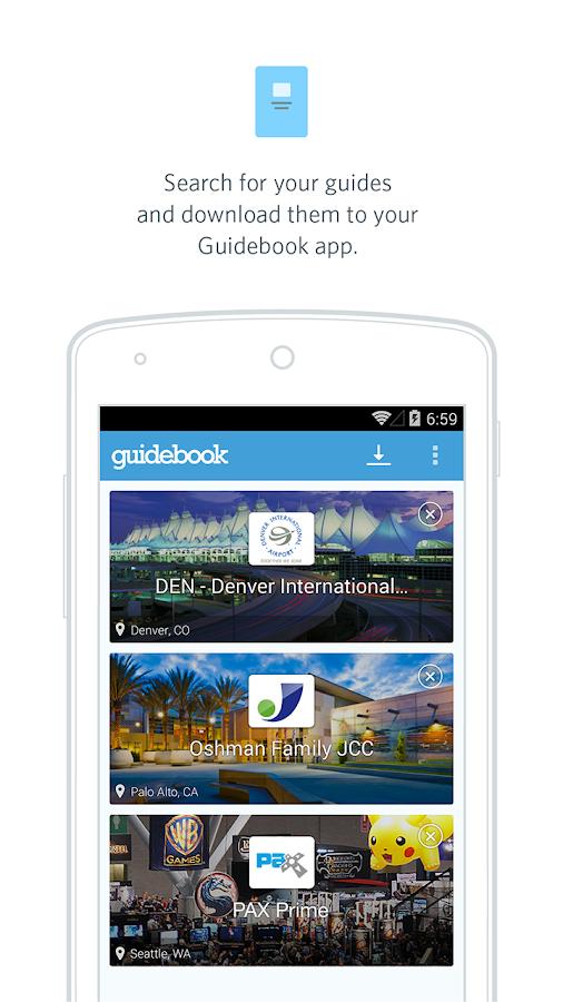 Guidebook- screenshot