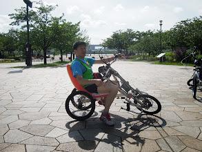 Photo: ごっちゃんがバイクを試走