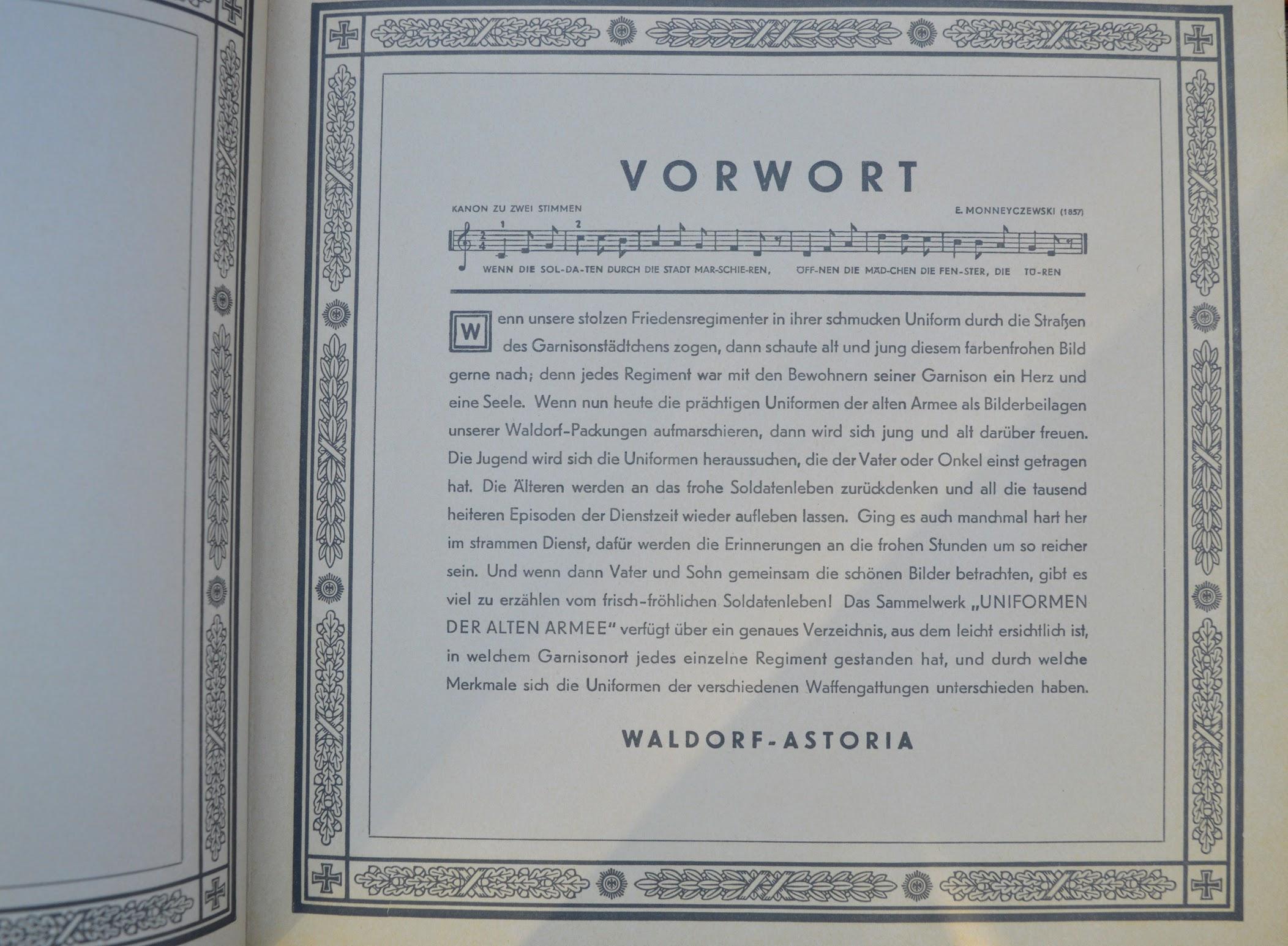 Zigarettenfabrik Waldorf-Astoria - Sammelalbum - Uniformen der alten Armee - 1932