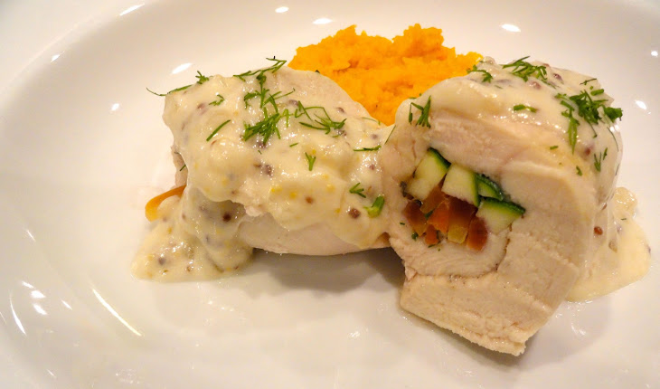 Chicken Roulade with Champagne Sauce Recipe