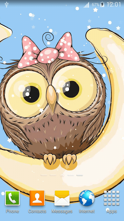 Cute Owl Live Wallpaper Android Applications Appagg
