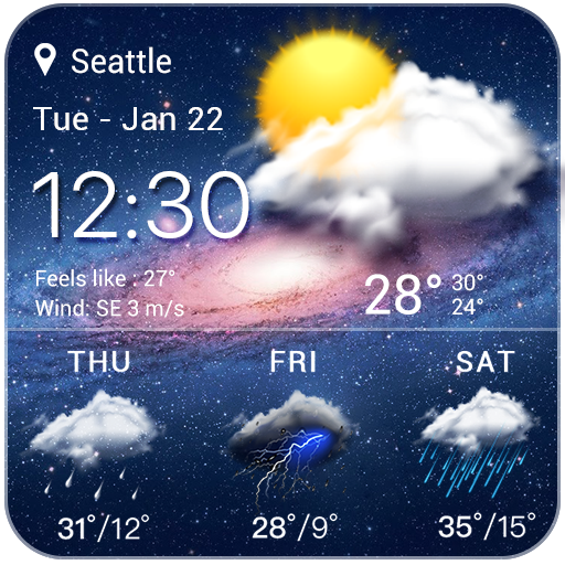 live weather widget accurate