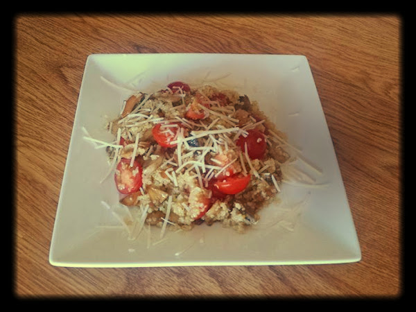 Parmesan Truffle Quinoa With Mushrooms And Tomatoe Recipe