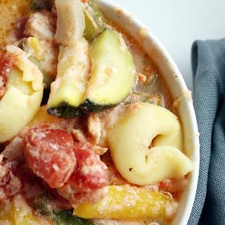 Cheesy Chicken & Veggie Tortellini Skillet
