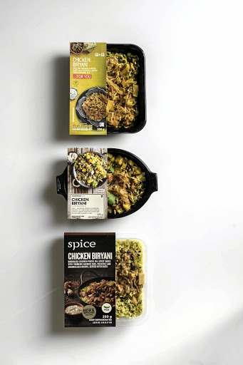 From top: Chicken biryani from Pick n Pay, Woolworths and Checkers.