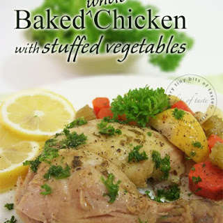 Baked Whole Chicken with Stuffed Vegetables
