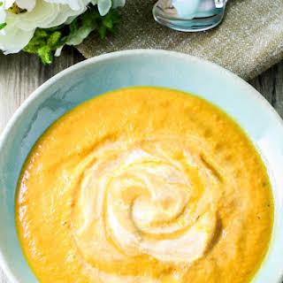 Creamy Carrot and Pumpkin Soup.