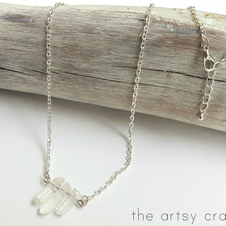 Snow Queen Quartz - Short Necklace by The Artsy Craftsy