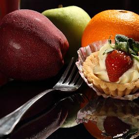Fruits & Dessert by BRYON PHILIP - Food & Drink Fruits & Vegetables ( orange, pwcfruit, fruits, apples, drinks, strawberry, dessert )