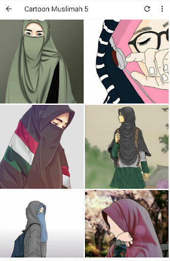 Cartoon Muslimah : Wallpaper and DP screenshot 1