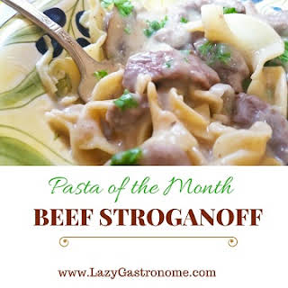 Pasta of the Month – Beef Stroganoff.