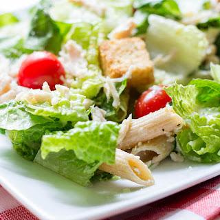 Skinny Chicken Caesar Pasta Salad