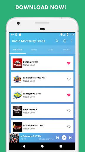 radio monterrey free - stations of nuevo leon screenshot 2