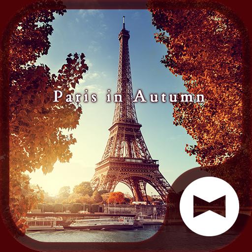 Beautiful Wallpaper Paris in Autumn Theme Icon
