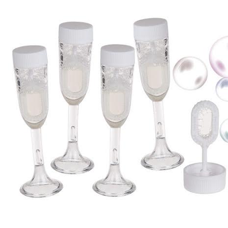 Såpbubblor, champagneglas 16 ml 4 st
