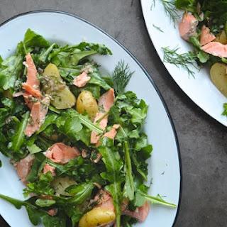 Salmon Potato Arugula Salad