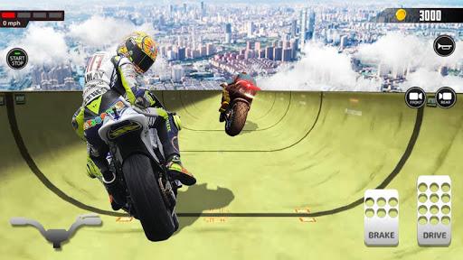 Impossible Mega Ramp Moto Bike Rider Stunts Racing screenshots 3