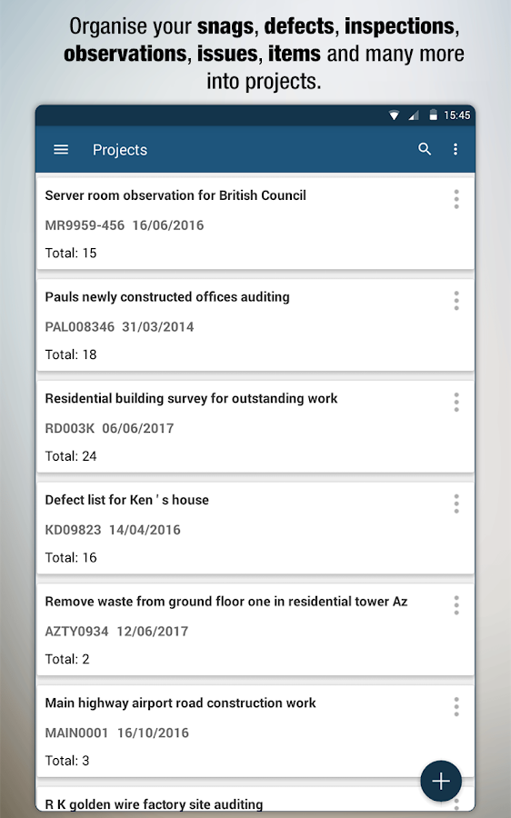 AuditBricks - Site Auditing, Snagging & Punch List- screenshot