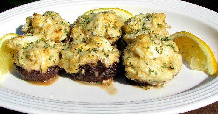 Crab Stuffed Mushroom - NO BREADING OR FILLER - (Low Carb Recipe)