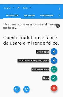 Italian English Translator- screenshot thumbnail