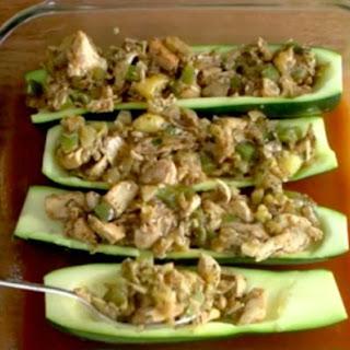 Chicken Enchilada Zucchini Boats.