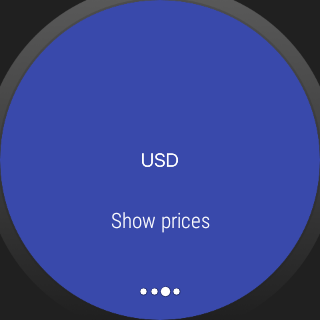 Chitose.  A crypto currency prices viewer on wear- screenshot