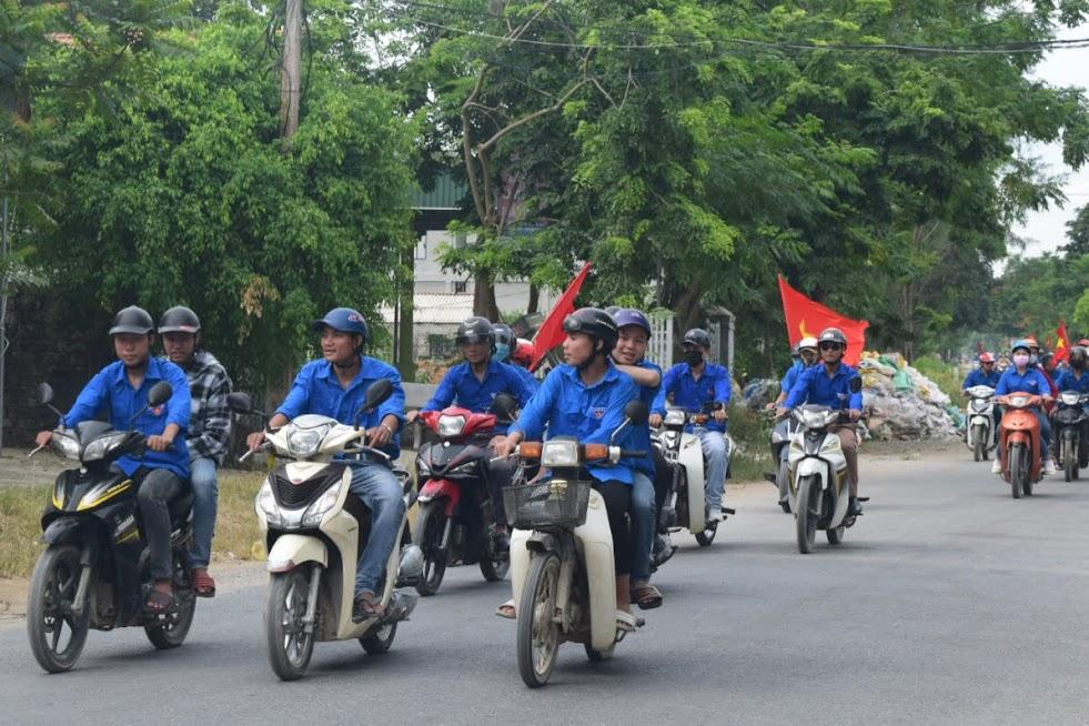 Các lực lượng tham gia diễu hành tại các tuyến đường