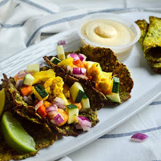 Vegan Low-carb Zucchini Tortillas/rotis.