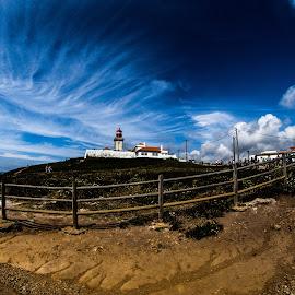 Cabo da Roca by Gabriel Fox - Landscapes Travel ( sky, sand, lighthouse, blue, portugal, beach )