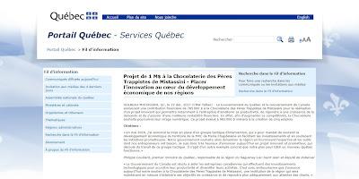 Projet de 1 M$ à la Chocolaterie des Pères Trappistes de Mistassini Portail Québec