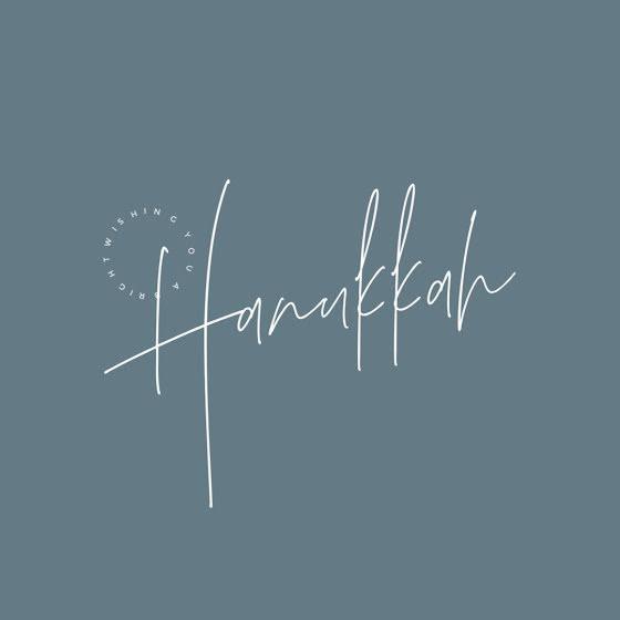 A Bright Hanukkah - Hanukkah Template