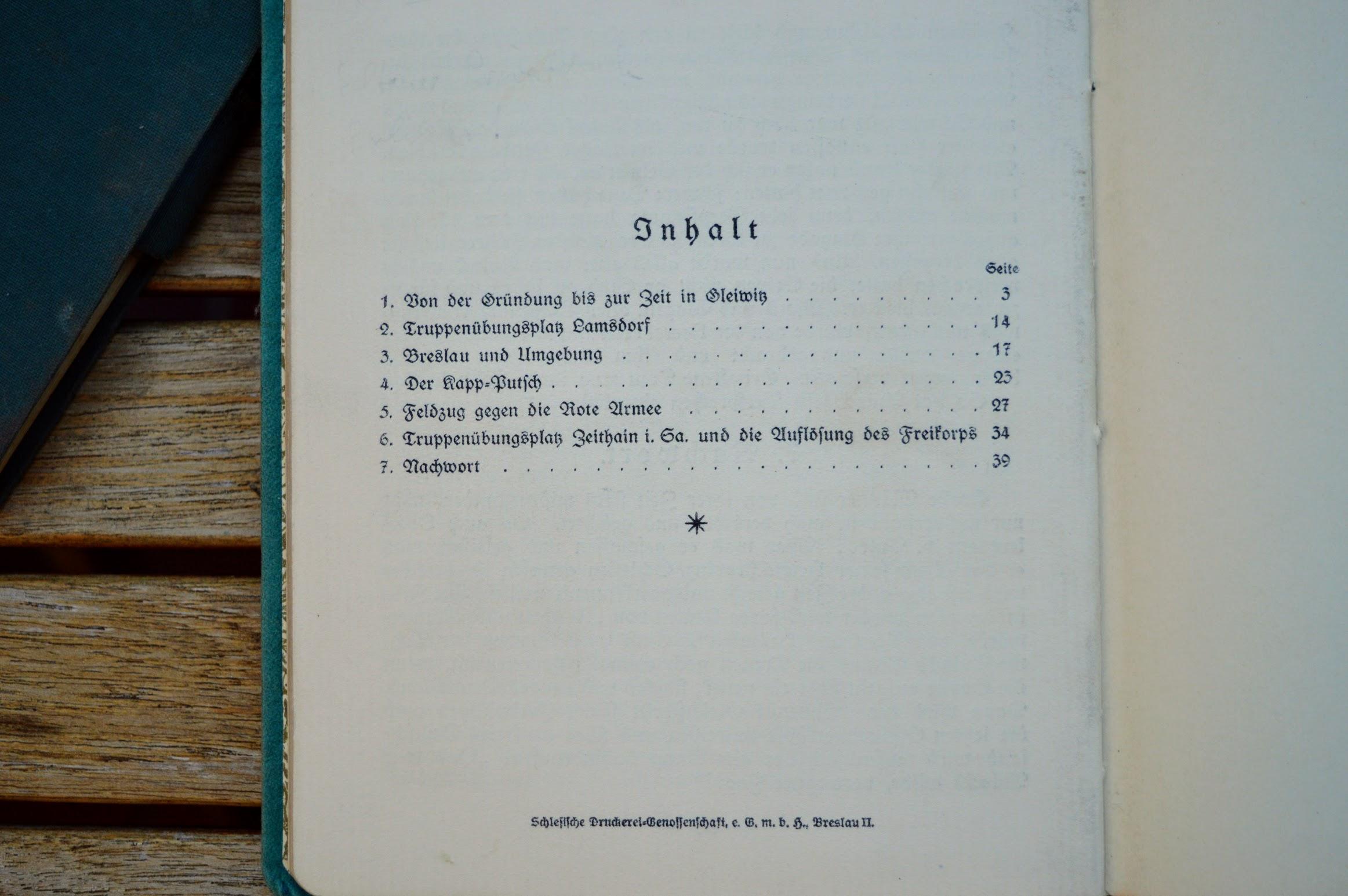 Walter Leithäuser - Die Geschichte des Freikorps v. Aulock - 1922