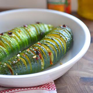 Italian Hassle-Back Zucchini