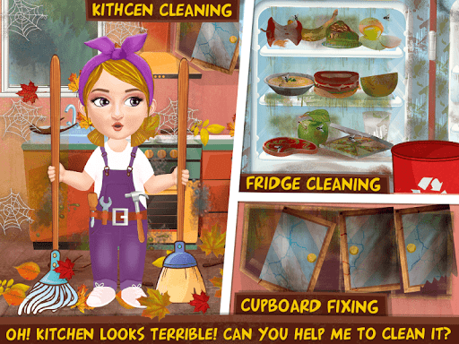 Messy House Cleanup Girls Home Cleaning Activities android2mod screenshots 5