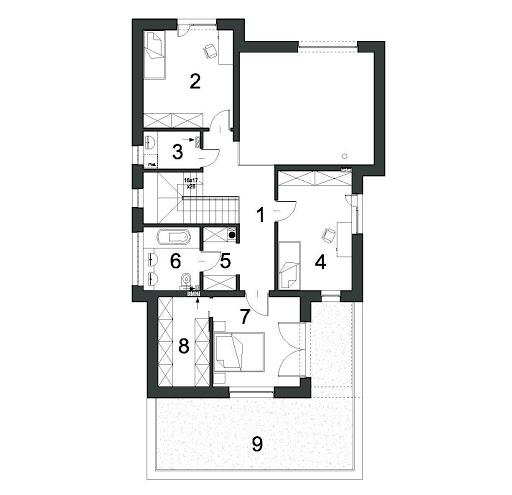 Wyrazisty D46 - Rzut piętra