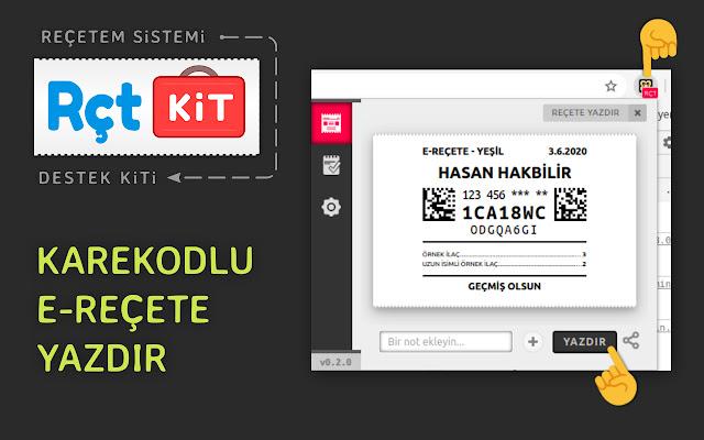 RCTKiT - Karekodlu E-reçete Yazdır