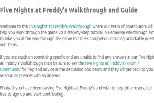 The Top guide for FNAF IV