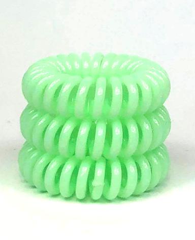 Spiralsnodd pastell limegrön