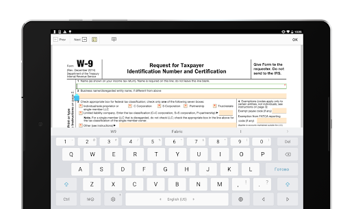 W-9 PDF Form for IRS: Sign Income Tax Return eForm App Download For Android 6