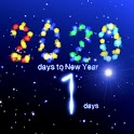 New Years 2020 countdown icon