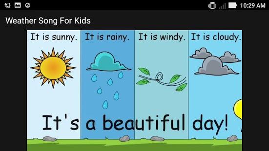 weather kids song offline screenshot thumbnail weather kids song offline screenshot thumbnail - Weather Pics For Kids