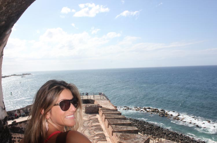 The view from a lookout station atop El Morro.