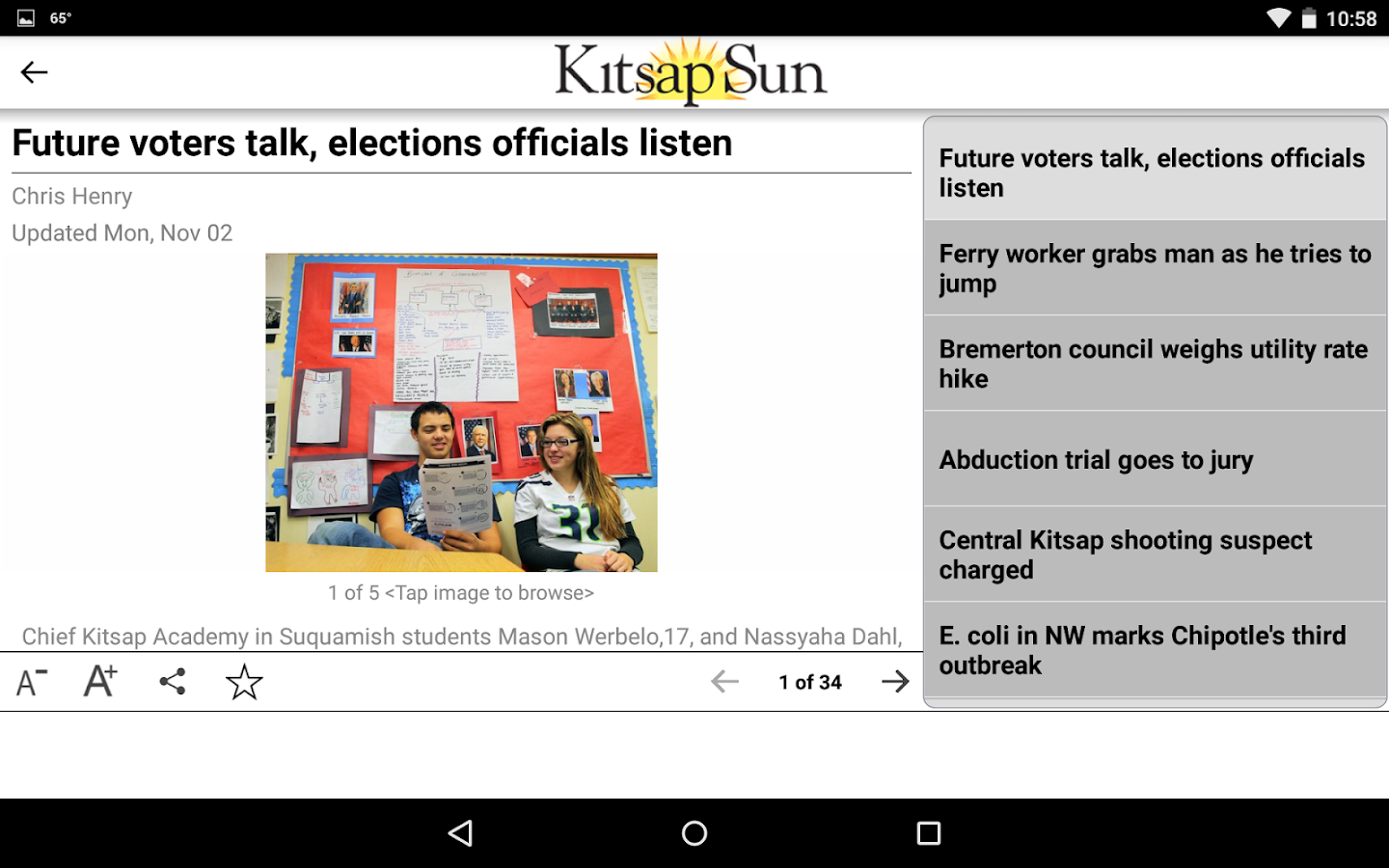 Kitsap Sun- screenshot