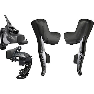 SRAM Force eTap AXS Electronic Road Groupset - 1x, 12-Speed, HRD Brake/Shift Levers, Flat Mount Disc Cali