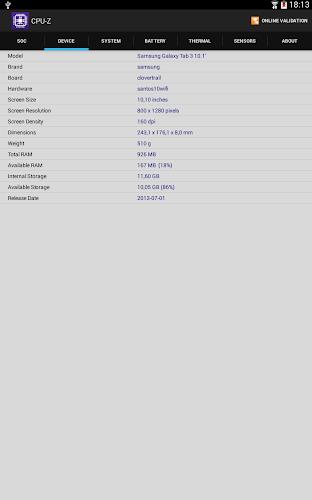 CPU-Z Mod v1.14 (Ad Free) APK - screenshot