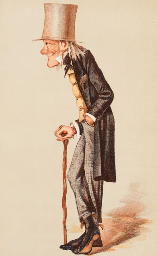 "Men of the Day No. 57 ""Old Bones"" Sir Richard Owen (Image plate from Vanity Fair)"