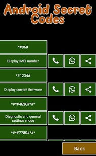 Phone secret codes for android - náhled