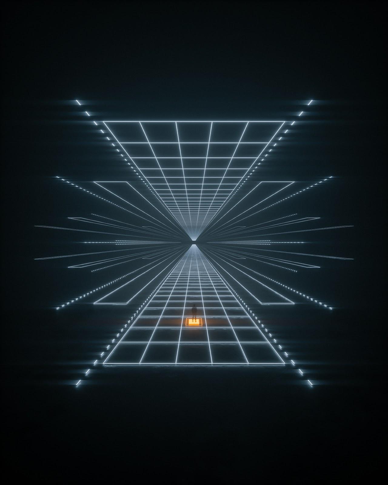 3D cinema4d depth geometric light lofi neon octane Perspective Render
